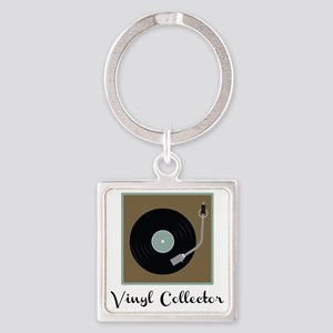 Vinyl Collector Square Keychain