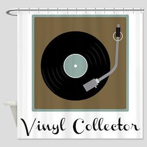 Vinyl Collector Shower Curtain