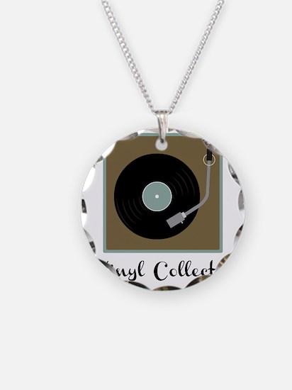 Vinyl Collector Necklace Circle Charm