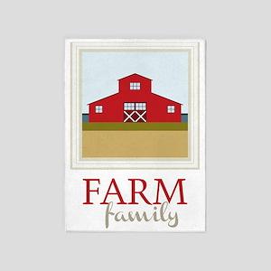 Farm Family 5'x7'Area Rug