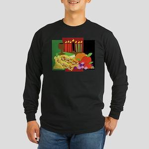 Kwanzaa Design Long Sleeve Dark T-Shirt