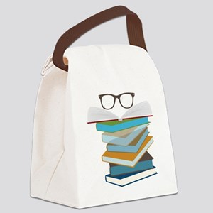 Stack Of Books Canvas Lunch Bag