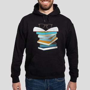 Stack Of Books Hoodie (dark)