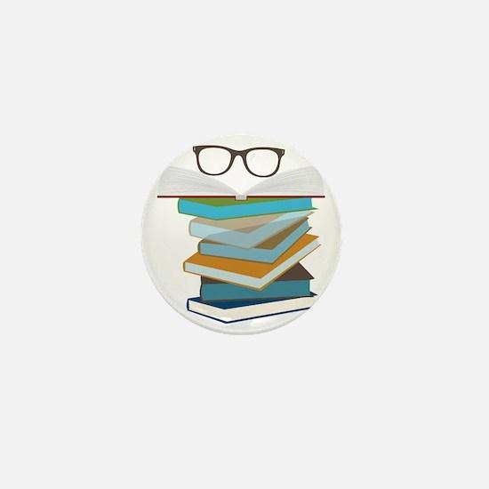 Stack Of Books Mini Button