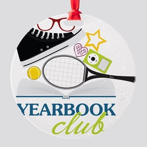 Yearbook Club Round Ornament