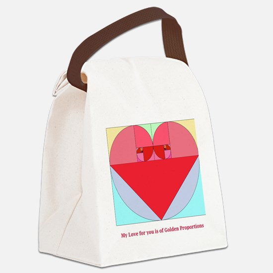 Golden Ratio heart Canvas Lunch Bag