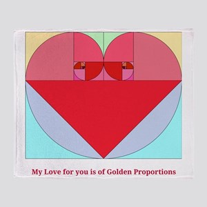 Golden Ratio heart Throw Blanket