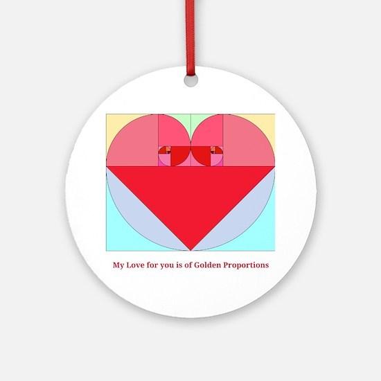 Golden Ratio heart Round Ornament