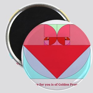 Golden Ratio heart Magnet