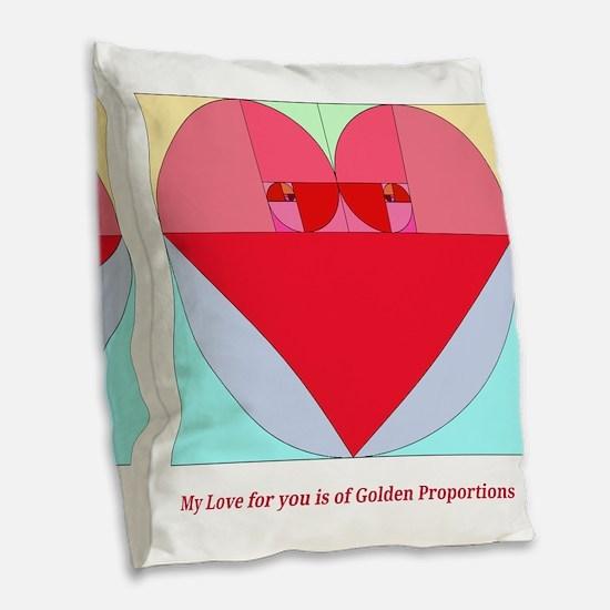 Golden Ratio heart Burlap Throw Pillow