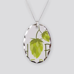 Hop Head Necklace Oval Charm