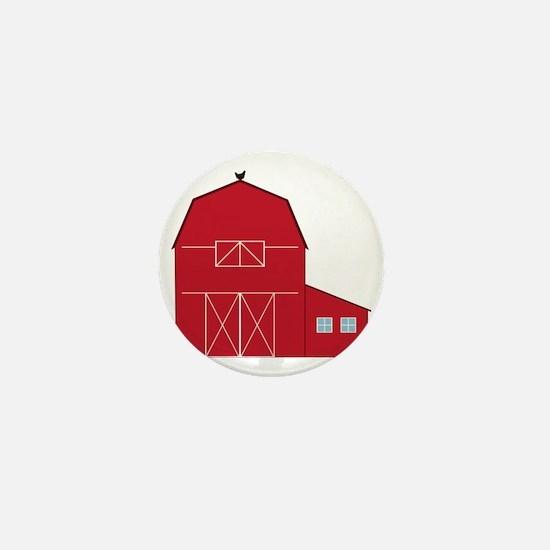 Red Barn Mini Button