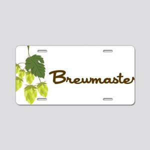 Brewmaster Aluminum License Plate