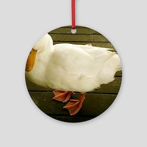 Pekin Duck Round Ornament