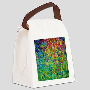 Rainbow Fields Canvas Lunch Bag