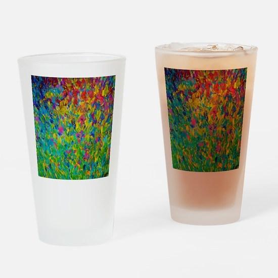 Rainbow Fields Drinking Glass