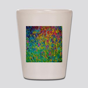 Rainbow Fields Shot Glass