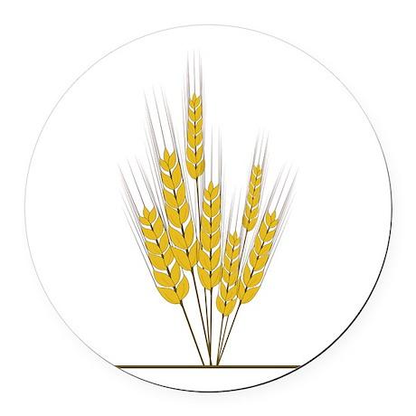 Wheat Round Car Magnet