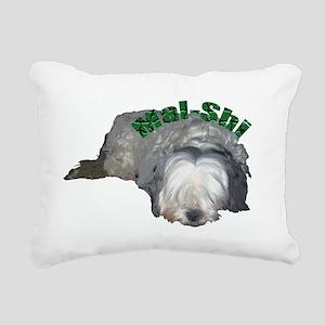 Maggie the MalShi Rectangular Canvas Pillow