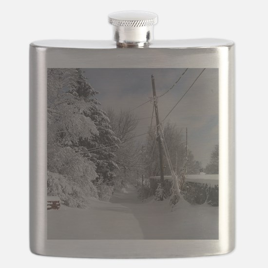 Round Compact Mirror Flask