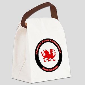CFU-WhiteDragon Seal Canvas Lunch Bag