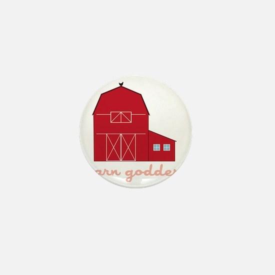 Barn Goddess Mini Button
