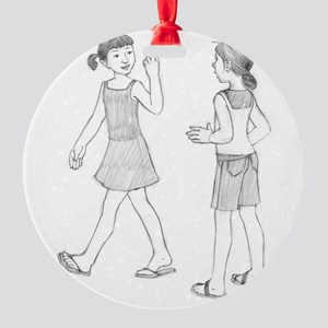 Girls Round Ornament