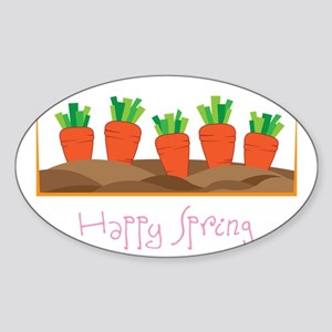 Happy Spring Sticker (Oval)