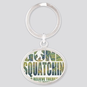 Gone Squatchin *Special Deep Forest  Oval Keychain