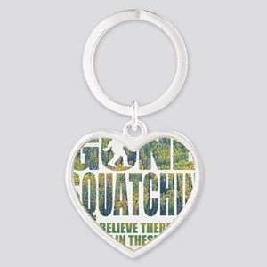 Gone Squatchin *Special Deep Forest Heart Keychain