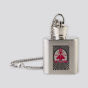 Defeat Cancer Flask Necklace