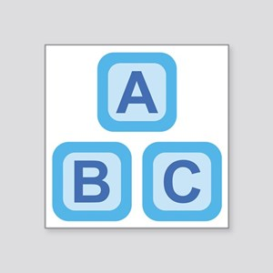 "ABC Blocks Square Sticker 3"" x 3"""
