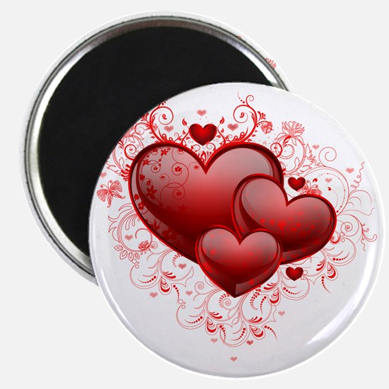 Floral Hearts Magnet