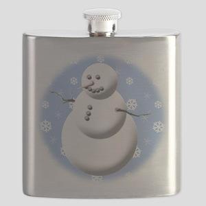 Cute Snowman Flask