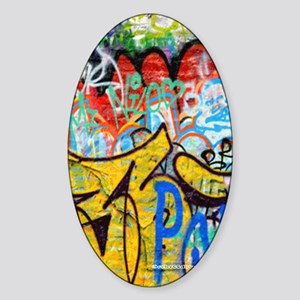 Colorful Graffiti iPad Sleeve Sticker (Oval)