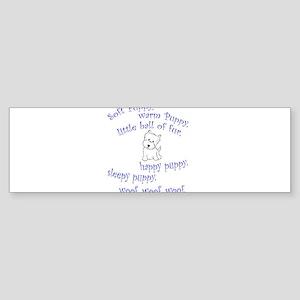 Soft Puppy Bumper Sticker