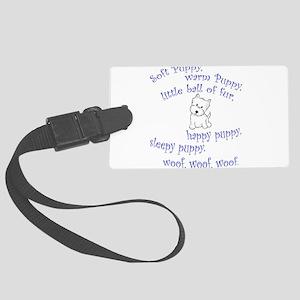 Soft Puppy Luggage Tag