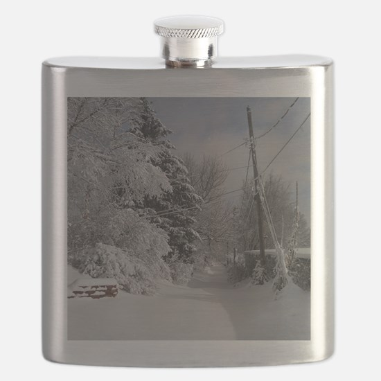 Square Charm Flask
