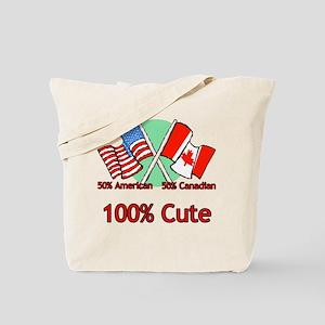 Canadian American 100% Cute Tote Bag
