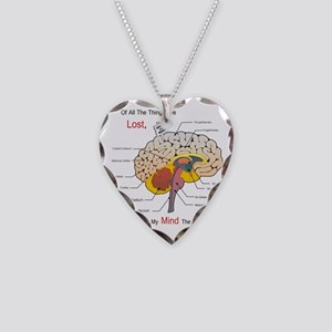I miss my mind Necklace Heart Charm