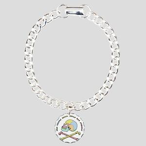 mnemonic-skull-T Charm Bracelet, One Charm
