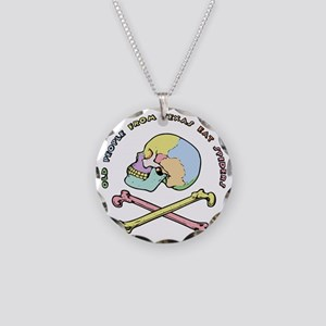 mnemonic-skull-T Necklace Circle Charm