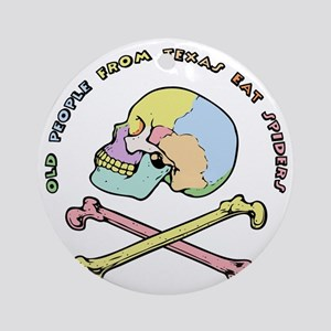 mnemonic-skull-T Round Ornament