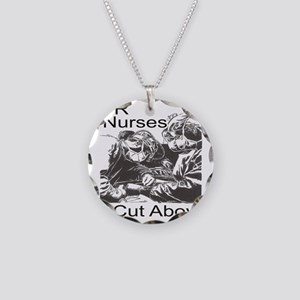 OR Nurses Necklace Circle Charm