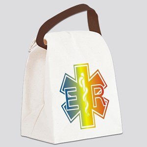 ER multicolor Canvas Lunch Bag