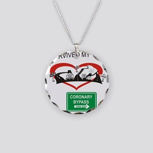 I survived my coronary bypas Necklace Circle Charm