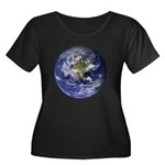 Earth Women's Plus Size Scoop Neck Dark T-Shirt