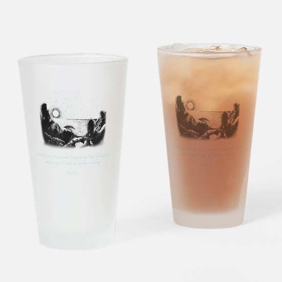 Mermaid Quote Drinking Glass