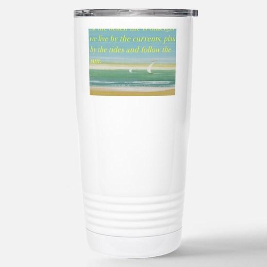 The beach Stainless Steel Travel Mug