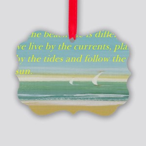 The beach Picture Ornament